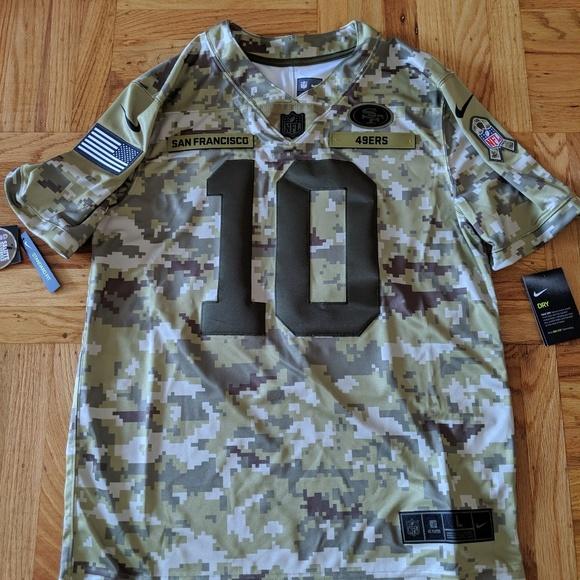 best website f6d55 939d3 Nike Jimmy Garoppolo Salute To Service Jersey